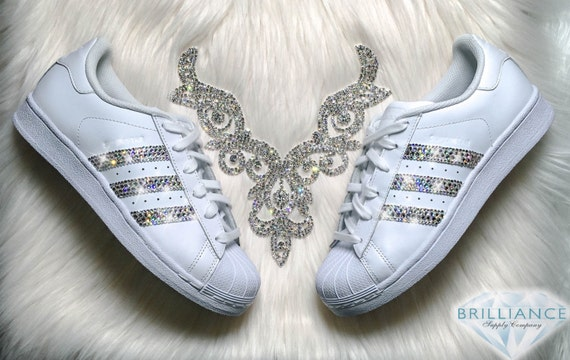 703c4971d4a9 best Adidas Superstar Womens Shoes White Stripes by BrillianceSupplyCo