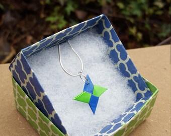 Origami Shuriken Necklace