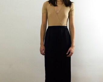 Black Silky Skirt/ Black Midi Skirt/ Black Silky Midi Skirt/ Vintage Black Skirt