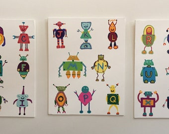 Robot Alphabet Paintings
