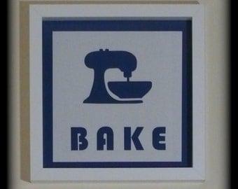 Bake - Handmade Baking Silhouette Picture