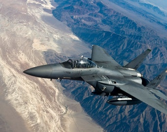 F-15 in Flight - Airplane Photography, Aviation Art, Airplane Art, Airplane Photography, Pilot Gift, Aircraft Photography, Military