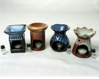 Handcrafted aromatheraphy oil burners