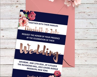 coral wedding invite | etsy, Wedding invitations