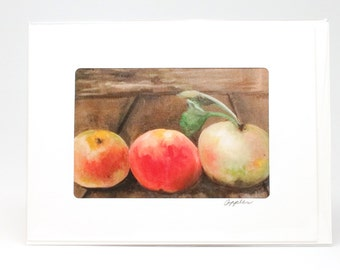 "Fine Art ""Apple, Fall Harvest"" Blank Single Card With Envelope"