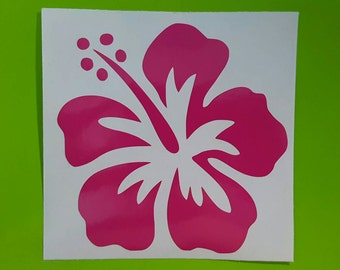 Hibiscus Hawaiian Flower Decal