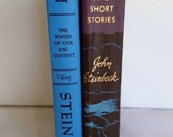 Vintage Book Set John Steinbeck The Winter of Our Discontent 1961 and The Moon is Down and Short Stories 1942