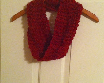 Hand Knit - Ruby Red Cowl