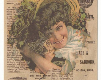 1890's Girl W/Cat, Chase and Sanborn Coffee: Standard Java Record