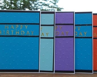 Set of 5 Birthday Cards
