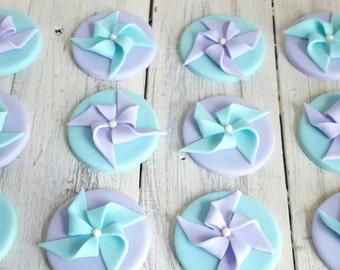 Pinwheel Cupcake or Cookie Toppers
