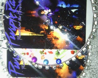 purple rain album covers earrings