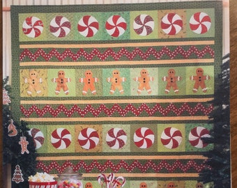 Christmas Goodies Quick Fusible Applique and Easy Patchwork Quilt Pattern by Black Mountain Quilts