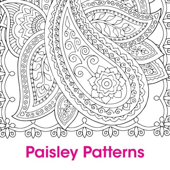 4 Paisley Patterns Designs To Colour By Ellecreativegroup