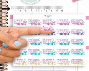 Clear Happy Mail Stickers,Planner Stickers,Happy Mail Stickers,Transparent Stickers,Mail Stickers,Erin Condren,Decorative Sticker NR1163