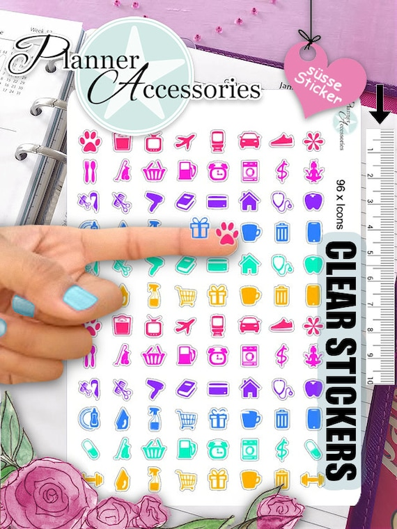 Clear Washing Stickers Household Stickers Planner Stickers Erin Condren Functional Stickers Daily Chore Stickers Decal Sticker 387