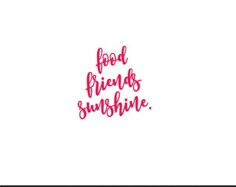 food friends sunshine svg dxf file instant download silhouette cameo cricut clip art commercial use