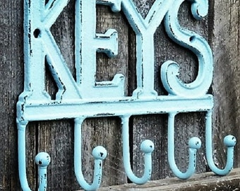 Rustic Key Hook / Key Holder / Cast Iron Key Hook / Rustic Home Decor /