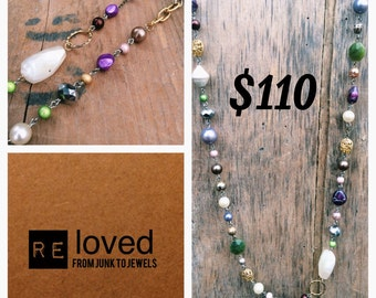 Re-Loved Long Beaded Necklace 040