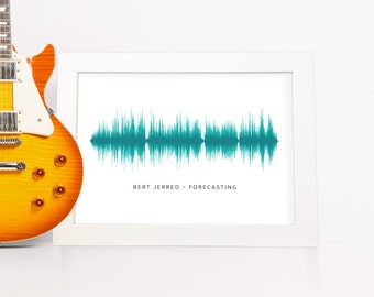 Custom Sound Wave Art Personalised Your Song First Dance Wedding Gift