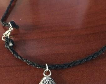 Buddha Bead cotton braided necklace