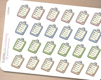 Clipboard Planner Stickers Perfect for Erin Condren, Kikki K, Filofax and all other Planners