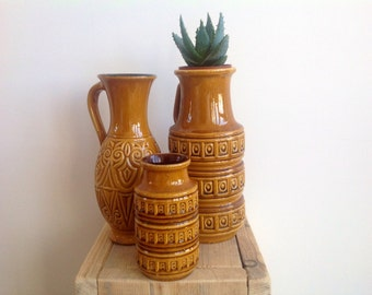 Vintage, retro West-Germany vases. Original items from the 60s/70s