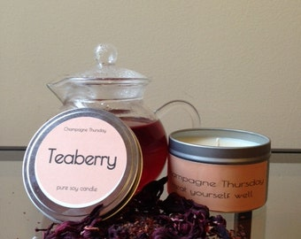 Teaberry Soy Candle, 8oz.