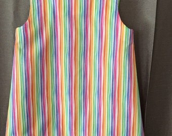 Bright colored stripe sundress