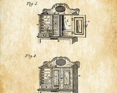 Dentist's Cabinet Patent - Patent Print, Wall Decor, Dental Office Decor, Medical Art, Dental Art, Dentist Decor, Dentist Cabinet