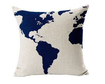 "Been Around the World"" Decorative Pillow Cover"