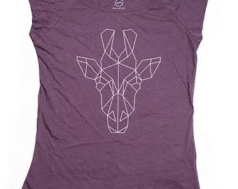 Ninus - Giraffe, Hand-printed Bamboo Women's T-Shirt