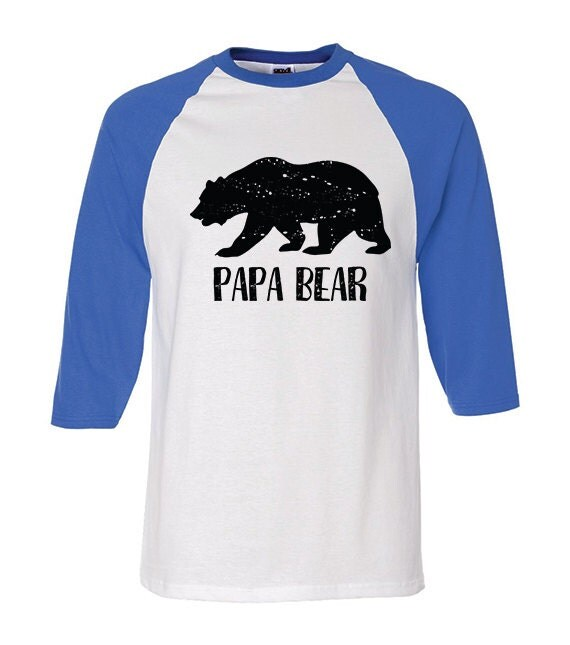 Baseball Tee Shirts Papa Bear Pawpaw New Dad Gifts