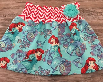 Ariel skirt, The Little Mermaid skirt, Under the sea skirt, Mermaid skirt,  Girls Ariel skirt , Toddlers skirts,
