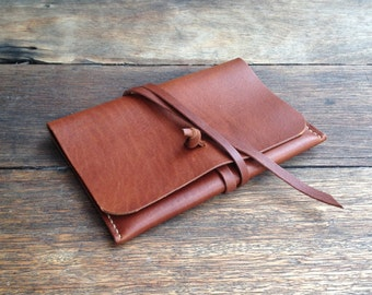 Leather Pouch/Purse/Clutch - hand stitched & handmade