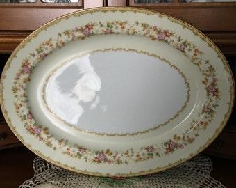 """Noritake """"M"""" Platter, """"Aberdale"""" Pattern from 1933."""