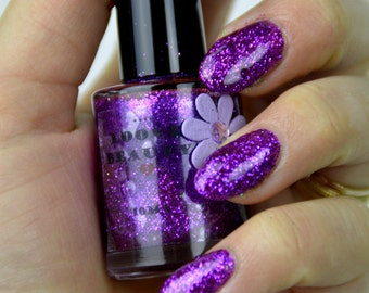Disco- Purple Glitter Nail Polish