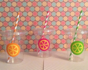 Pink Lemonade Party Cups or Vintage Milk Bottles