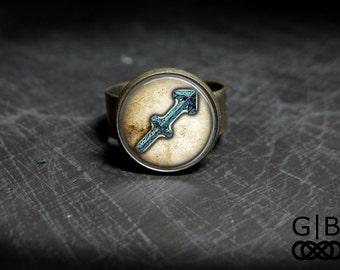 Sagittarius Astrology Ring With Adjustable Band Sagittarius Adjustable Ring - Sagittarius Birthday Gift Ring - Sagittarius Present Ring