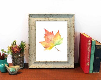 Fall Leaves, Maple Leaf, Painting, Fall Decor, Autumn Leaves, Autumn, Welcome Fall, Colorful Leaves, Autumn Decor, Leaf Watercolor