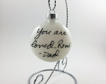 Custom Handwriting Ornament - Personalized Handwritten Ornaments