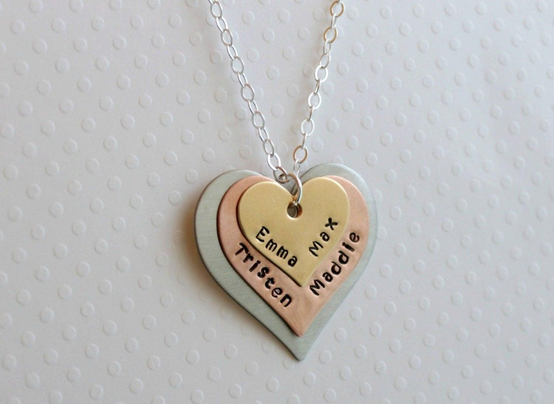 mothers necklace heart necklace name necklace mothers necklace. Black Bedroom Furniture Sets. Home Design Ideas