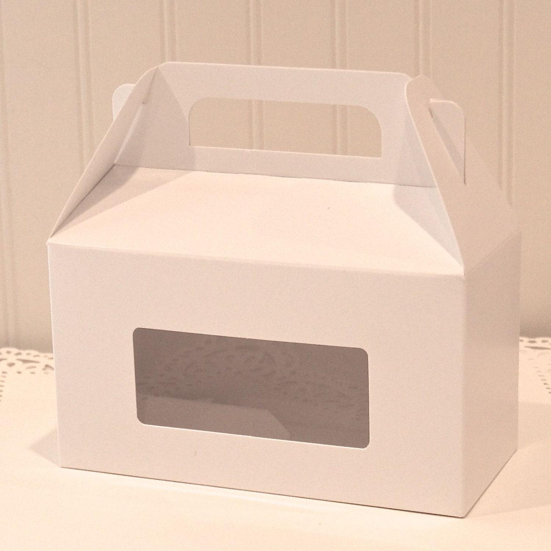 Cake Slice Boxes White Gable Window Cake Box Wedding Cake