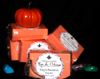 Pumpkin Pie & Lily of the Valley - Dezy's Cauldron Soap Bar (Eau de Orleans) - Handmade Soap - Women's Gift - Feminine - Natural