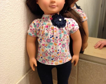 American Girl Doll Clothes (outfit).  Also fits Our Generation and My Life Dolls