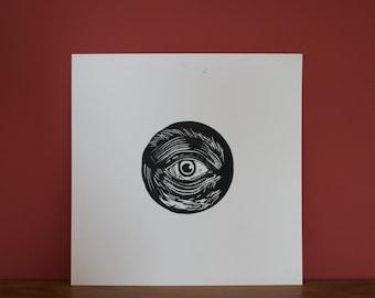 SEEING EYE // Handmade Lino Print