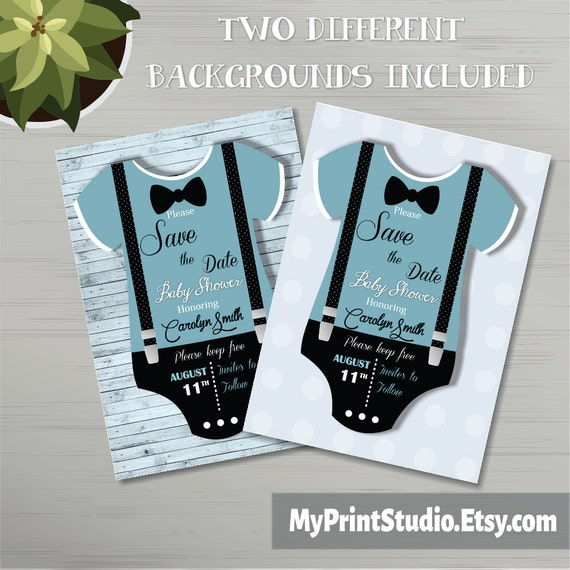 save the date baby boy shower card template creative boy. Black Bedroom Furniture Sets. Home Design Ideas