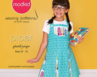 ModKid - Piper - Paper Sewing Pattern for Girl's Pleated Jumper