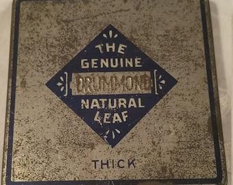 Vintage Drummond Tobacco Natural Leaf Tin