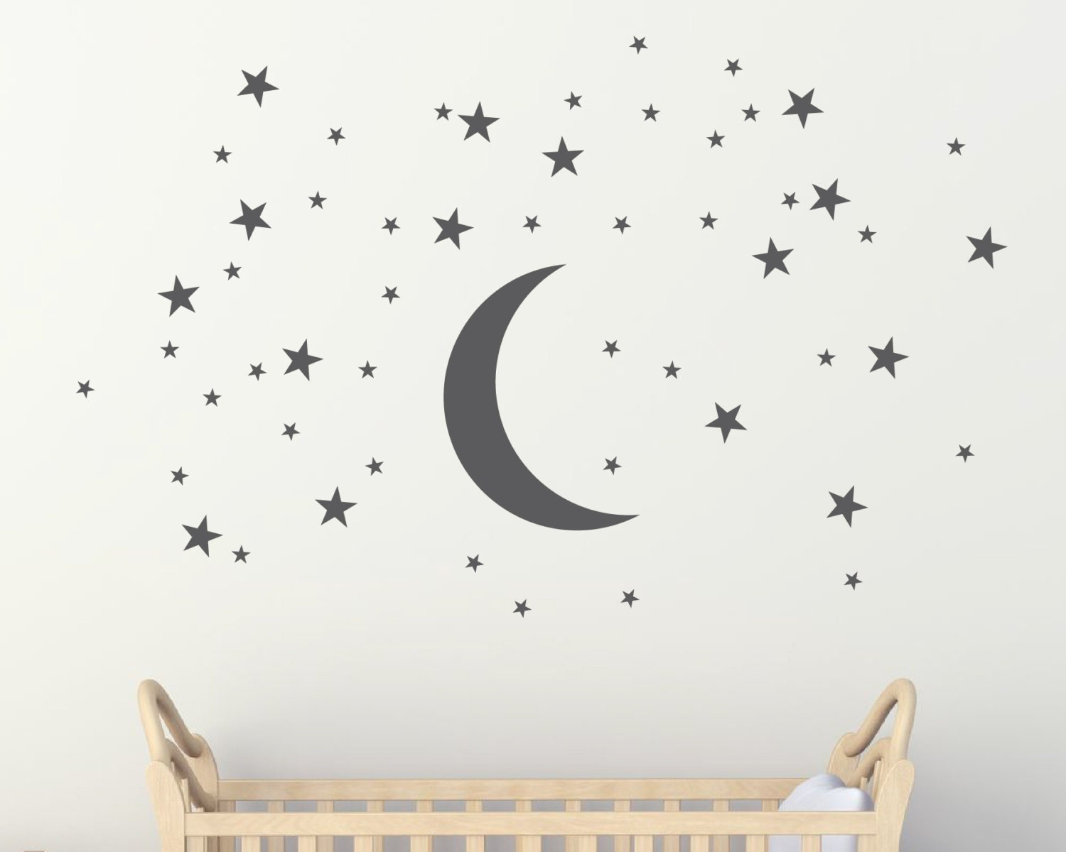 moon and stars wall stickers wall murals by urbanartworkstore amazing romantic luminous moon and stars removable wall